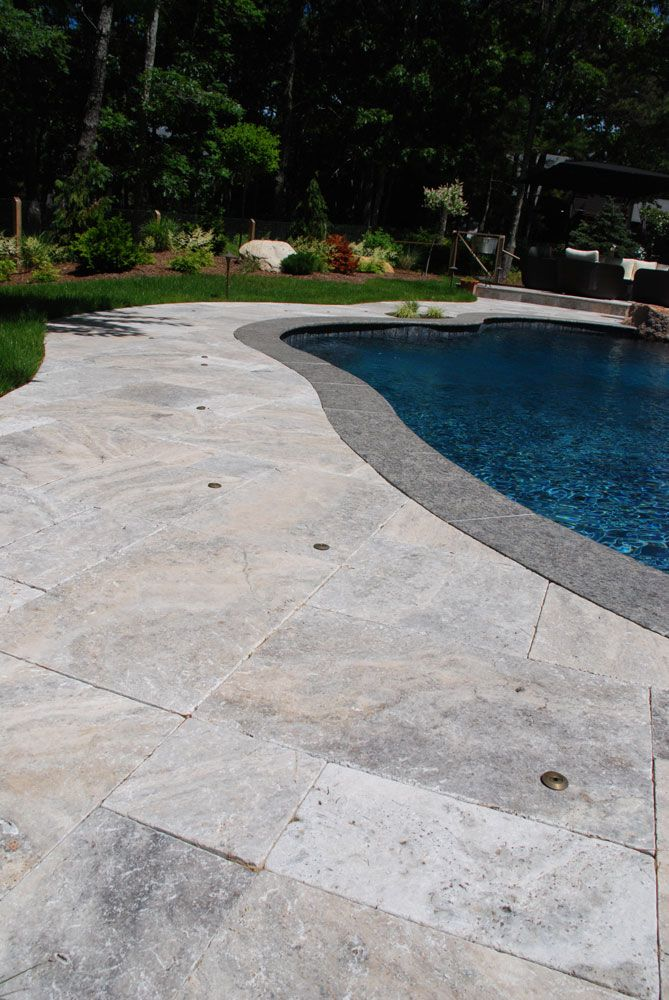 33 best above ground swimming pools images on pinterest - Installing pavers around swimming pool ...