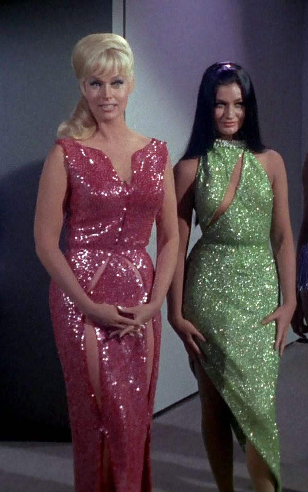 Eve McHuron (Karen Steele) & Ruth Bonaventure (Maggie Thrett) - Star Trek: The Original Series S01E06: Mudd's Women (First Broadcast: October 13, 1966)