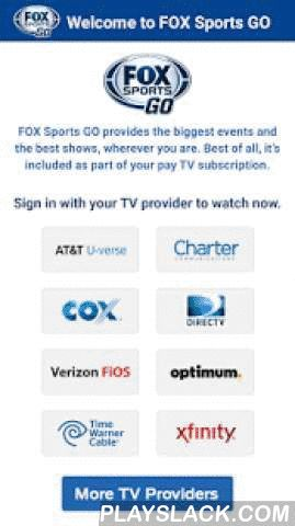 fox sports go android app with fox sports go you can watch live sports and great shows from fox sports depending on your tv provider