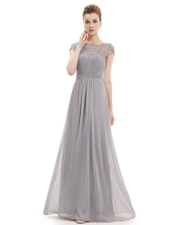 Women Lace Long Evening Formal Party Tail Dress Bridesmaid Prom Gown Size 8