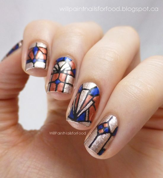 Stained Glass Nail Art: 7 Best Images About Stained Glass Nails On Pinterest