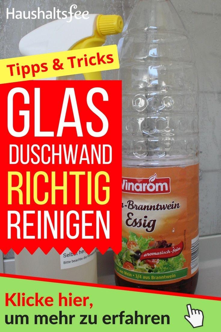 Kalk entfernen in Bad & Küche   Glasduschwand, Glasdusche reinigen ...