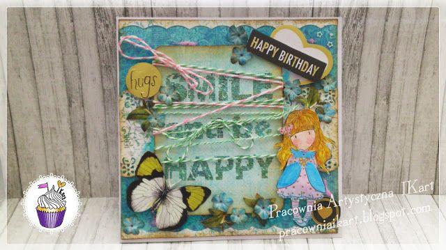 Pracownia artystyczna IKart: Mocno zakręcona kartka urodzinowa