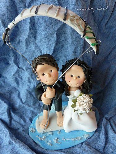 Back with an all new #wedding #caketopper for all #sport and #paragliding lovers! Eccomi con un nuovo #cake #topper #nuziale scopri tutte le mie creazioni seguendomi su Instagram e Facebook oppure prenota il tuo visitando marymade.it!