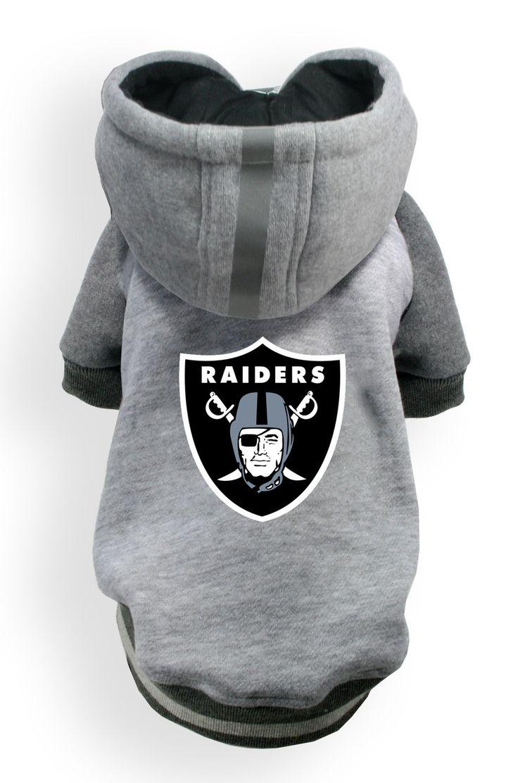 Oakland RAIDERS NFL dog Helmet Hoodie in color Athletic Gray