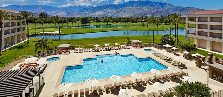 DoubleTree by Hilton Golf Resort Palm Springs Hotel, Palm Springs,CA -Pool Mountain View