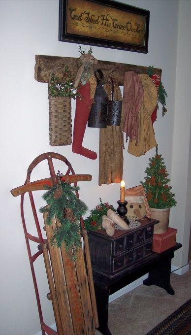 17 Best Ideas About Primitive Christmas Decorating On Pinterest Primitive C