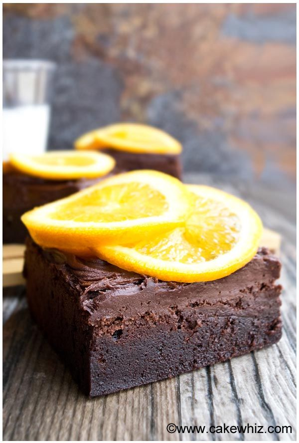 Dark chocolate orange brownies - CakeWhiz