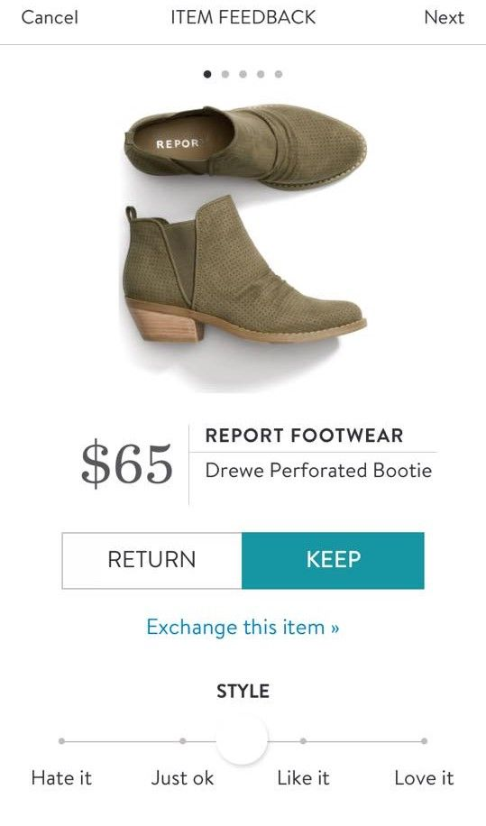 REPORT FOOTWEAR Drewe Perforated Bootie from Stitch Fix. https://www.stitchfix.com/referral/4292370