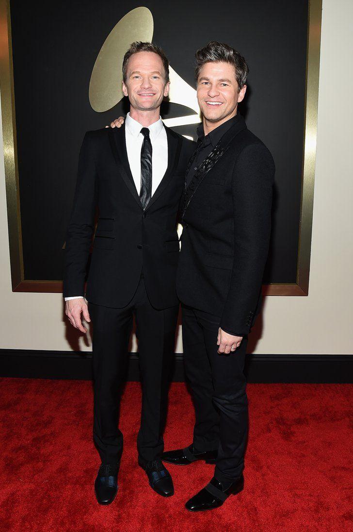 Pin for Later: Pour Voir Toutes Les Photos du Tapis Rouge des Grammy Awards, C'est Par Ici! Neil Patrick Harris et David Burtka