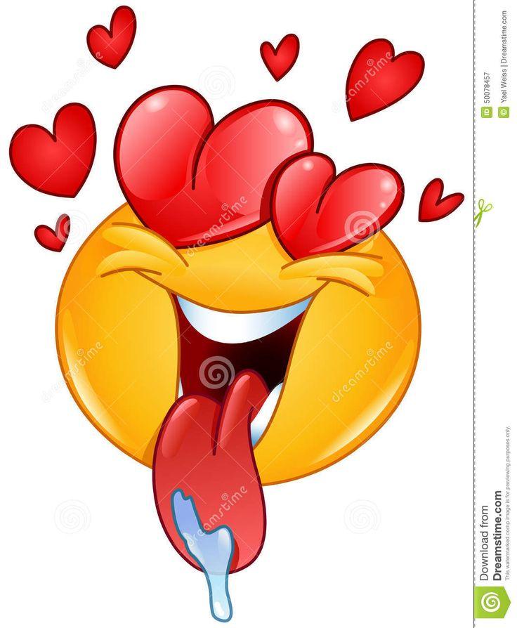 Foto über In Liebe Emoticon mit den Herzen und Zu…