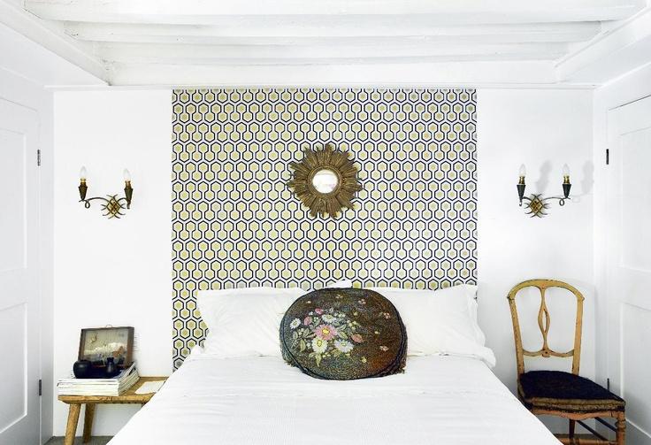 papier peint david hicks en t te de lit bedroom pinterest david hicks and david. Black Bedroom Furniture Sets. Home Design Ideas