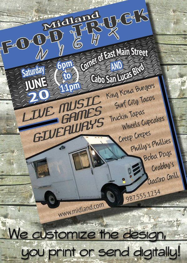food truck fundraiser flyer