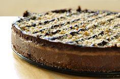 Τάρτα σοκολάτας με μπανάνες και φυστικοβούτυρο/chocolate tart with peanut butter