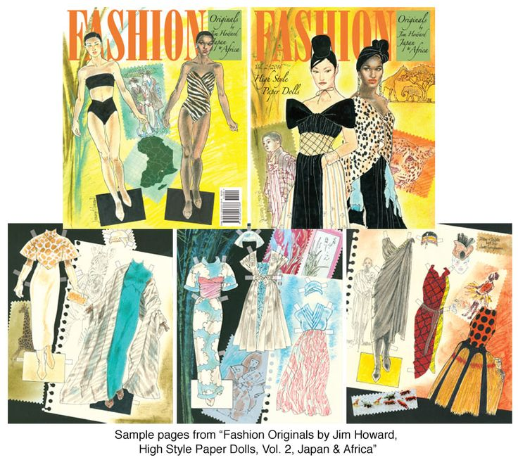 Fashion Originals By Jim Howard Vol Japan And Africa Exquisite Designs Paper Dolls Of Classic Stars Vintage Nostalgic Characters
