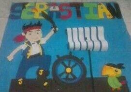 Mural de jake y los piratas