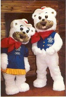 """""""Hidy & Howdy"""" 1988 Calgary Winter Olympics mascots."""
