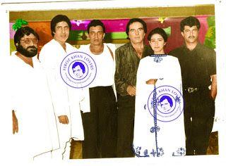 Legend Feroz khan with Amitabh Bachchan ,Mithun Chakraborty, Anil Kapoor ,Manisha Koirala .