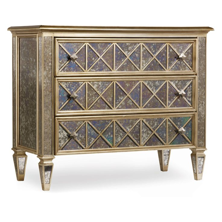Have to have it. 3-Drawer Antique Mirror Diamond Front Chest $1570.80
