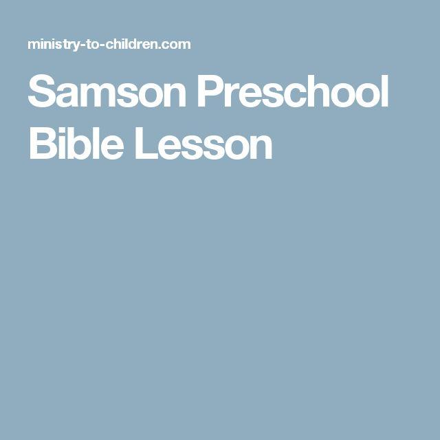 Samson Preschool Bible Lesson