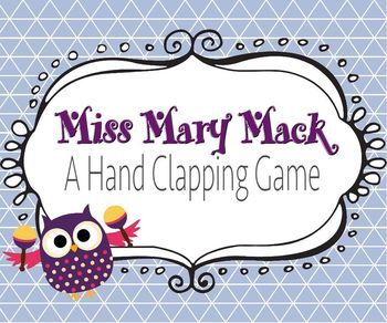 For those of us challenged for space in small classrooms, don't forget about Hand Clapping Games - which C always love.  Miss Mary Mack is a FREE download on at Danner's Place on TpT.  Other clapping songs also available for download: A sailor went to sea, Down by the Bank.