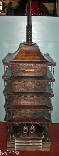 #CHINESE CABINET  $99.95  Asian pagoda jewelry trinket box real wood Very KEWL