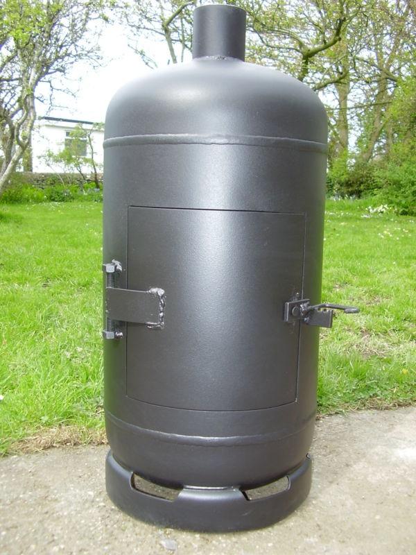 Gas Bottle Woodburner Heater Stove Log Burner Smoker Pot Belly Wood Burner Axe Logs