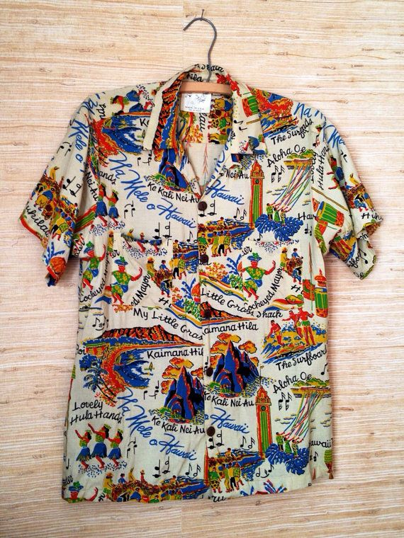 Fabulous 1960s Vintage Hawaiian Shirt / by HilltownVintage on Etsy, $34.00