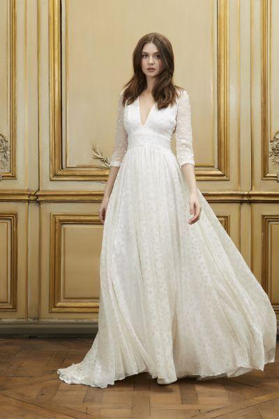Viaja en el tiempo: Los vestidos de novia corte imperio te harán sentir como reina Image: 5
