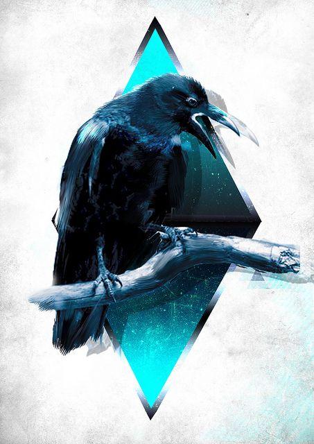 Crow ~ #artwork #graphic #design