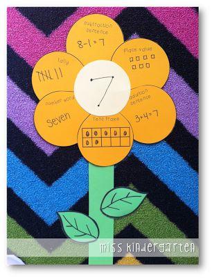 Math Flower freebie