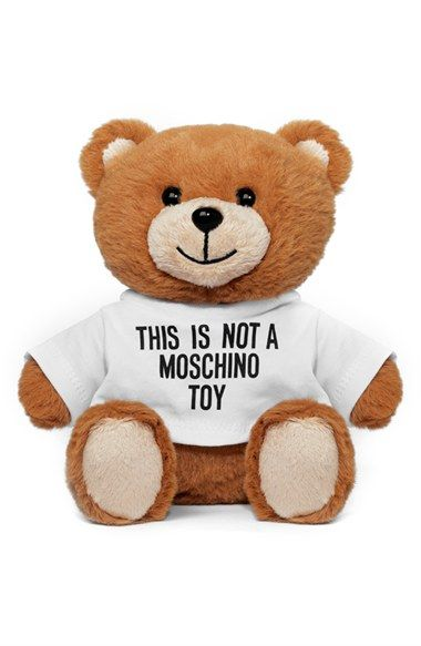 This adorable teddy bear secretly hides a Moschino fragrance inside. The unique packaging pays tribute to the unique fragrance that includes hints of  juniper berries,  violet, lavender, nutmeg, mountain tree moss, cedarwood, sandalwood & vanilla beans.