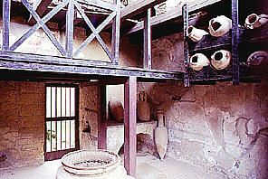 Pompeii wine shop, complete with jars