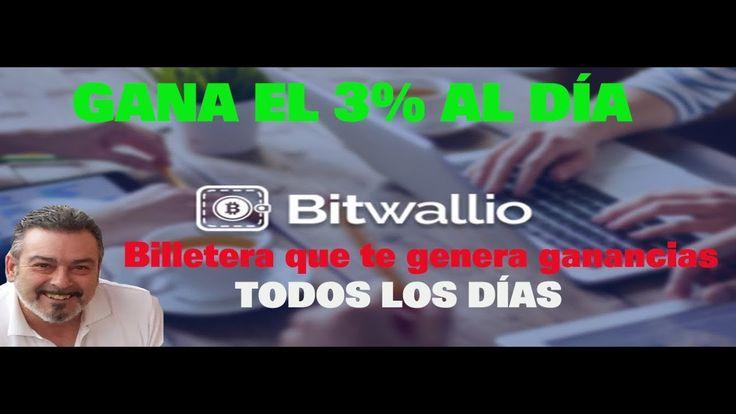🌟 PRESENTACION BITWALLIO GANA UN 3 PORCIENTO AL DIA