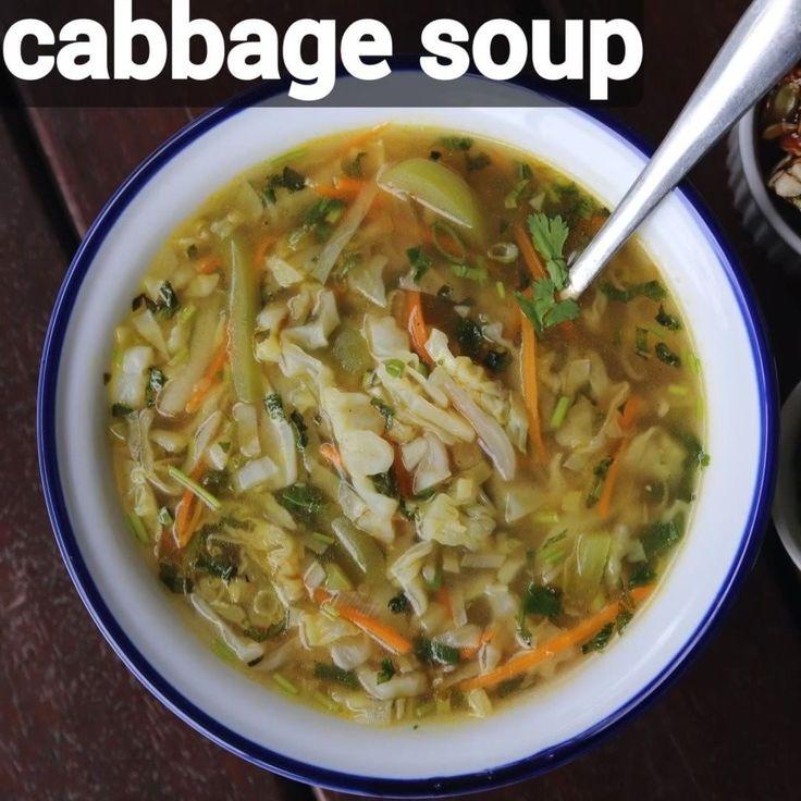 """Hebbar's Kitchen on Instagram: """"cabbage soup recipe ..."""