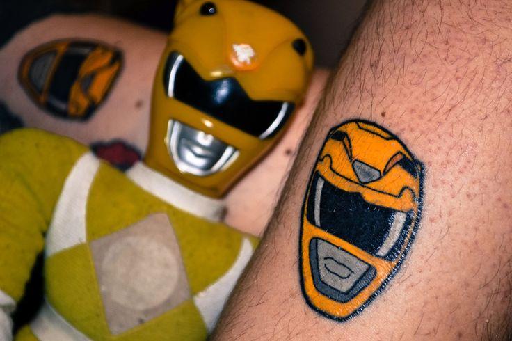 Yellow ranger helmet tatoo