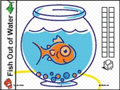 Here's a simple counting game for kids. Think about pairing it with the book ONE FISH, TWO FISH, RED FISH, BLUE FISH, by Dr. Seuss.