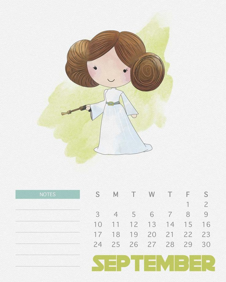 Calendário das Princesas Disney e de Star Wars - Just Lia
