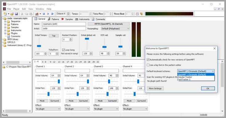 Οι δωρεάν εφαρμογές για την δημιουργία μουσικής είναι ελάχιστες και οι επαγγελματικές πανάκριβες. Το κενός αυτό έρχεται να συμπληρώσει το OpenMPT ένας απολύτως δωρεάν λογισμικό tracker για τα Windows.Το OpenMPT σας επιτρέπει να δημιουργήσετε και να αναπαράγετε επαγγελματικών προδιαγραφών μουσική στον υπολογιστή σας υποστηρίζει μια ευρεία ποικιλία των μορφών ενότητας και προηγμένα χαρακτηριστικά όπως VST plugins και εξόδου ASIO.  OpenMPT : 1.26.10.00  Author's Website: ΛΕΙΤΟΥΡΓΙΚΟ ΣΥΣΤΗΜΑ…
