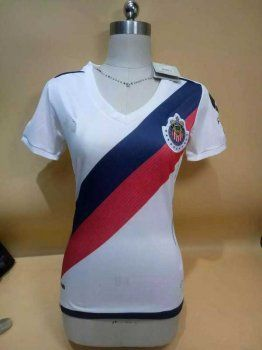 Women Chivas 16-17 Season Away White Soccer Jersey [H463]