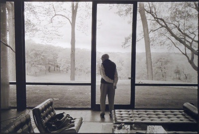 Philip Johnson, Glass House, New Canaan, Connecticut, 2000 - photography by Annie Leibovitz
