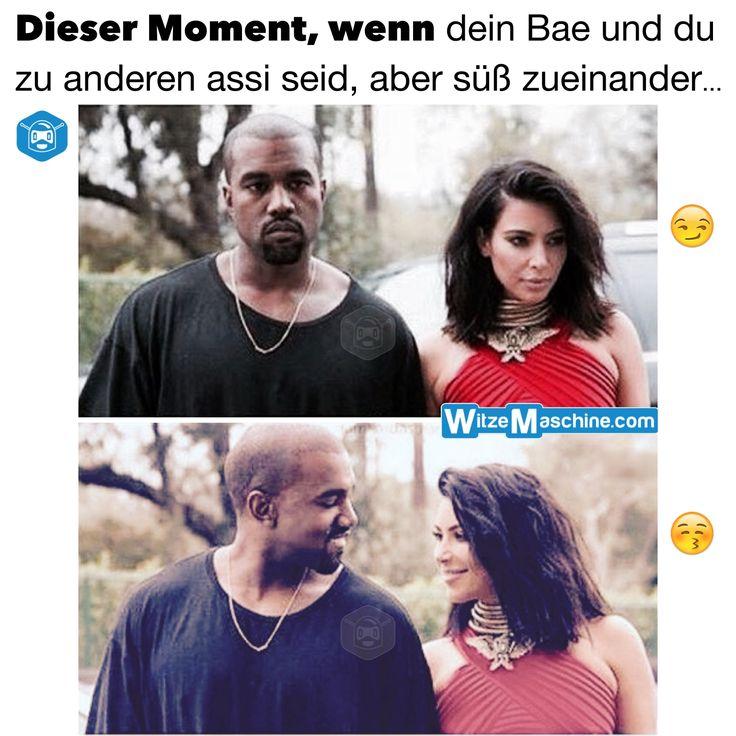 Dieser Moment, wenn dein Bae und du zu anderen assi seid - Kanye West Kim Kardashian lustig
