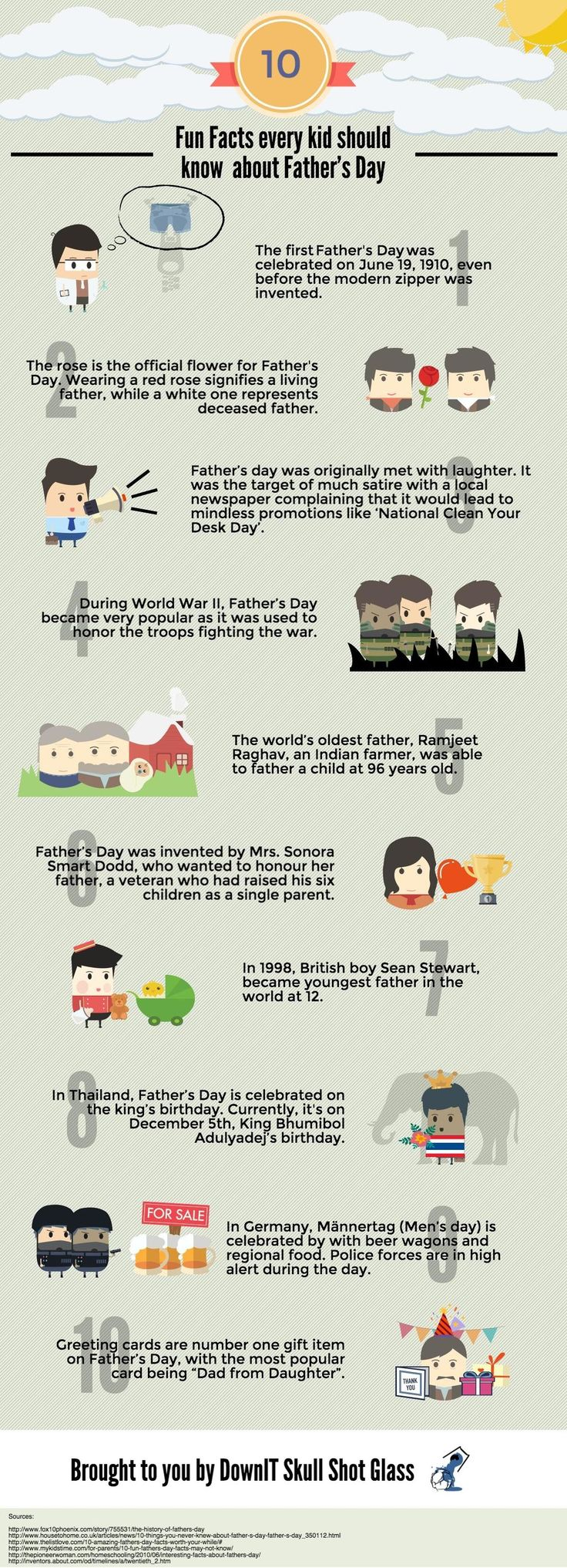 9 best happy fathers day images on pinterest dads father and 10 fun facts every kid should know about fathers day infographic fandeluxe Choice Image
