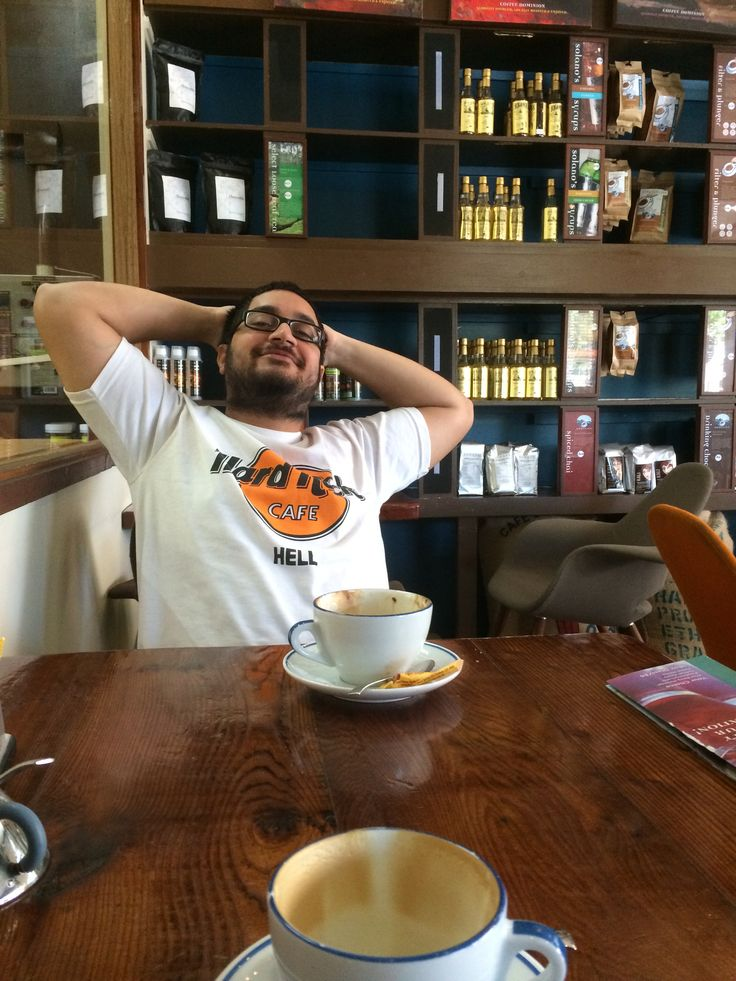 Coffee dominion. Off flinders st Coffee = yummy! = happy!