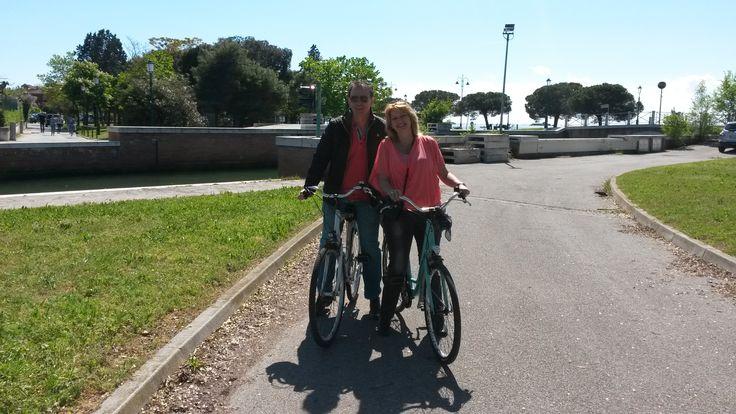 Lovely day after Easter.  #venice #lagoon @cyclecities  @CyclingVeniceLagoon.  Venice Lido Bike Tour