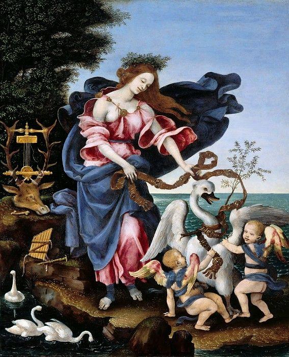 Липпи, Филиппино (1457-1504) - Аллегория музыки (Муза Эрато).