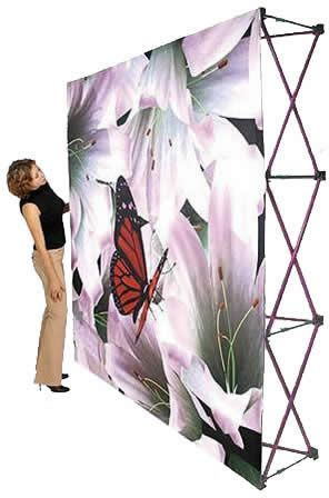 Radium Tension Fabric 10' pop-up tradeshow display