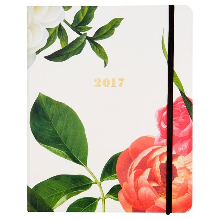 "In elegant floral, this Kate Spade New York 17-month agenda is a to-do lister's dream come true. Complete with monthly and weekly spreads, note pages and laminated dividers, keeping tabs has never looked so good. 17-month agenda, August 2016 - December 2017. 9"" x 7""."