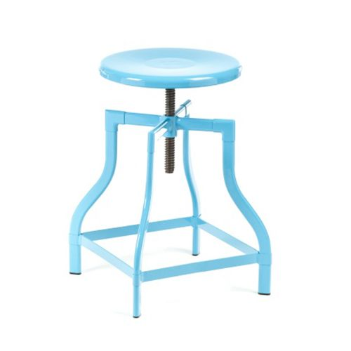Industrial Counter Stool Powder Blue Dotandbo Com