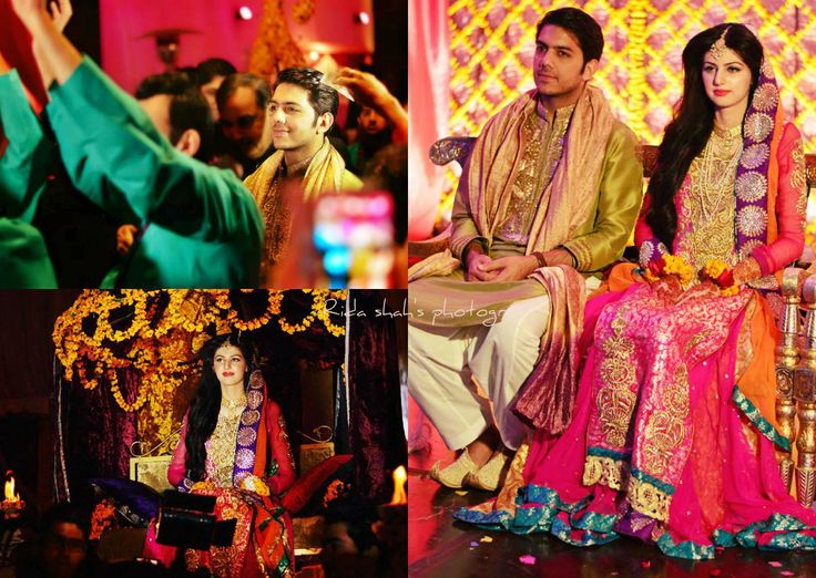 goher mumtaz and anam ahmed mehndi pictures